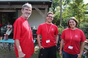 Das Team bei der AnsprechBar: Peter König, Carsten Dieckmann und Katharina Dworzak
