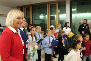 Bürgermeisterin Gabriele Müller bei der Begrüßung