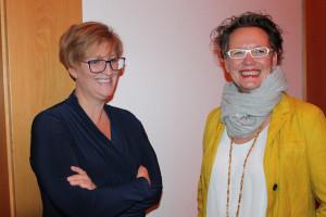 Sarah Schottlaender und Astrid Herrmann freuen sich auf den Abend