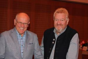 Auch Georg Obermeier und Wolfgang Hillner sind gut gelaunt.