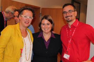 Astrid Herrmann, Katharina Dworzak und Thomas Fäth
