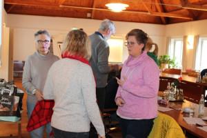 Viele gute Diskussionen wurden geführt: Barbara Lösch, Gabriele Müller und Sarah Schottlaender