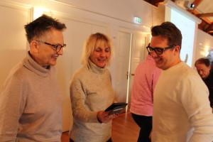 Die Stimmung ist gut: Barbara Lösch, Gabriele Müller und Carsten Dieckmann