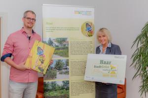 """Toller Auszeichnung für die jahrelange Arbeit der Gemeinde Haar: Als einzige Gemeinde wurden wir mit dem Label """"StadtGrün naturnah"""" in Gold ausgezeichnet."""