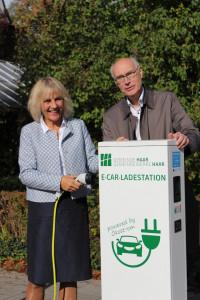 Zur Stärkung der Elektromobilität werden in Kooperation mit den Gemeindewerken E-Car-Ladestationen in Haar installiert.